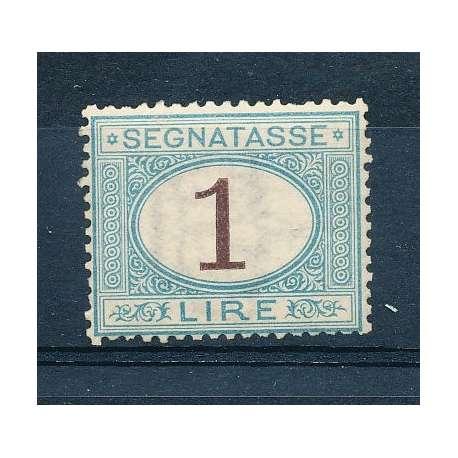 LA LIRA DELLE TASSE CENTRATA CERTIFICATO TERRACHINI - LIEVE T.L. G.O. -- regno d' Italia francobolli filatelia stamps