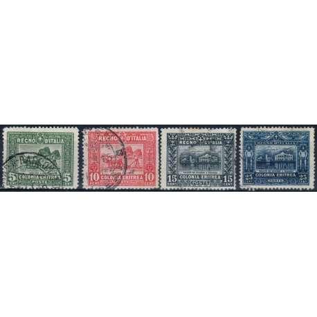 1910-14 ERITREA SOGGETTI AFRICANI 4 V. S.5 US. Colonie francobolli filatelia stamps