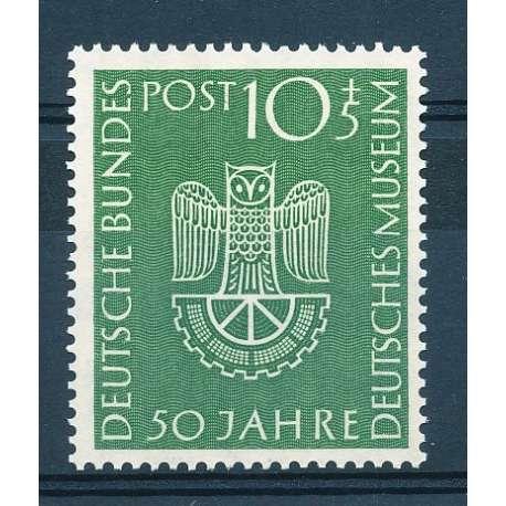 "R.F.T 1953 CINQUANTENARIO DEL ""DEUTSCHES MUSEUM"" DI MONACO G.I Germania francobolli filatelia stamps"