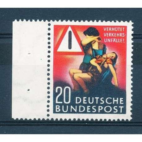 R.F.T 1953 PREVENZIONE DEGLI INCIDENTI STRADALI G.I Germania francobolli filatelia stamps