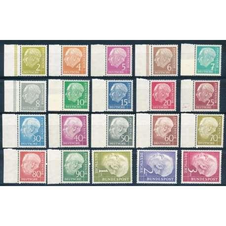 R.F.T 1954 EFFIGE DEL PRESIDENTE THEODOR HEUSS G.I Germania francobolli filatelia stamps