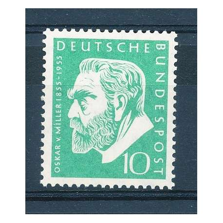 R.F.T 1955 CENTENARIO NASCITA O.VON MILLER G.I Germania francobolli filatelia stamps