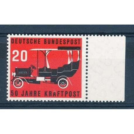 R.F.T 1955 CINQUANTENARIO DEL SERVIZIO AUTO POSTALE G.I Germania francobolli filatelia stamps