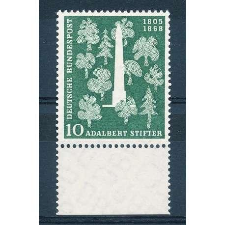 R.F.T 1955 150° ANNIVERSARIO DELLA NASCITA DI A.STIFTER G.I Germania francobolli filatelia stamps