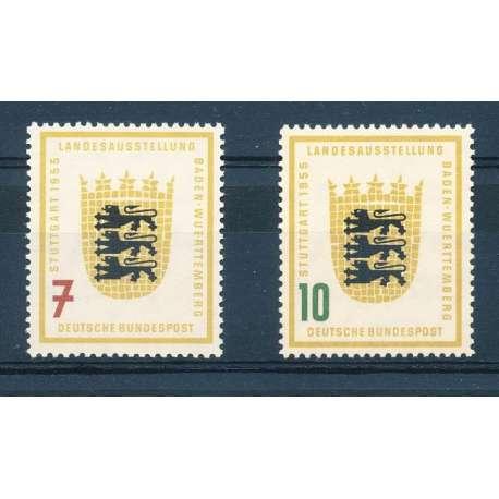 R.F.T 1955 MOSTRA REGIONALE DI STOCCARDA G.I Germania francobolli filatelia stamps