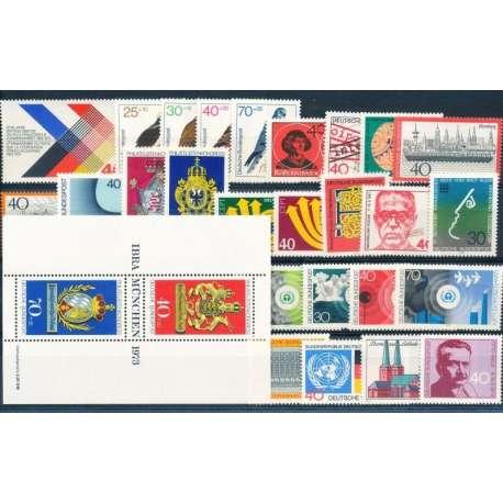 R.F.T 1973 ANNATA COMPLETA E DI ALTISSIMA QUALITA' G.I Germania francobolli filatelia stamps