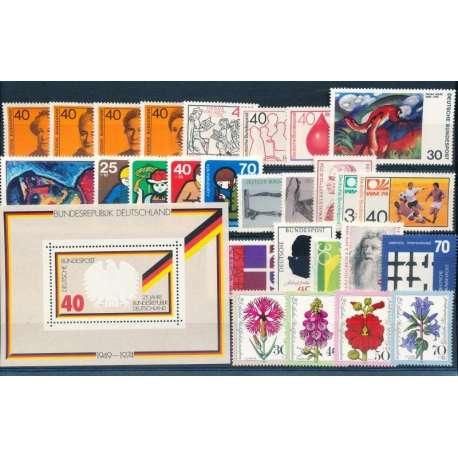 R.F.T 1974 ANNATA COMPLETA E DI ALTISSIMA QUALITA' G.I Germania francobolli filatelia stamps