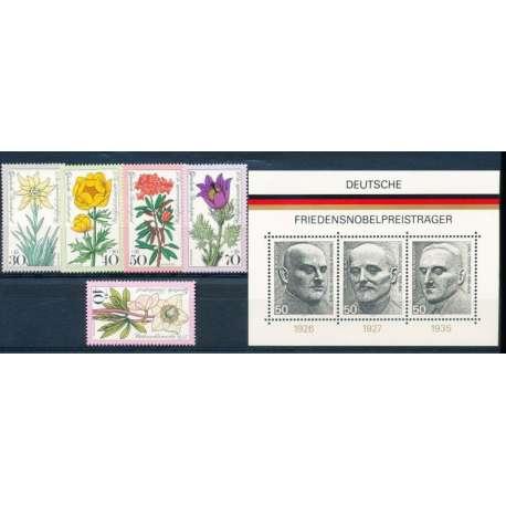 R.F.T 1975 ANNATA COMPLETA E DI ALTISSIMA QUALITA' G.I Germania francobolli filatelia stamps