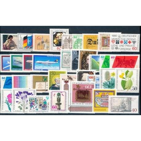 R.F.T 1980 ANNATA COMPLETA E DI ALTISSIMA QUALITA' G.I Germania francobolli filatelia stamps