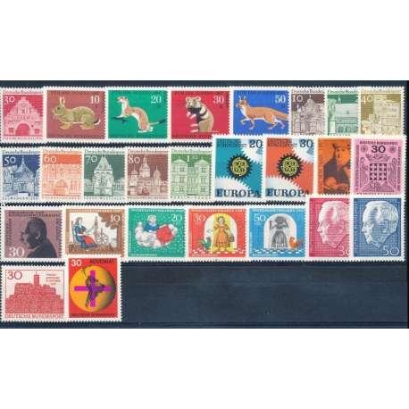 R.F.T- 1967 ANNATA COMPLETA E DI ALTISSIMA QUALITA' G.I Germania francobolli filatelia stamps