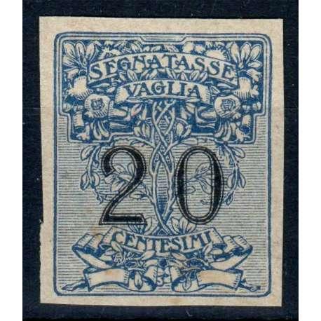 REGNO D'ITALIA 1924 SEGNATASSE PER VAGLIA 20 CENT. PROVA D'ARCHIVIO G.I MNH** regno d' Italia francobolli filatelia stamps