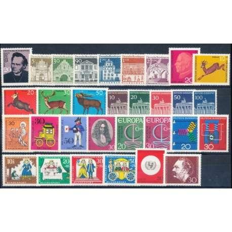 R.F.T.1966 ANNATA COMPLETA E DI ALTISSIMA QUALITA' G.I Germania francobolli filatelia stamps