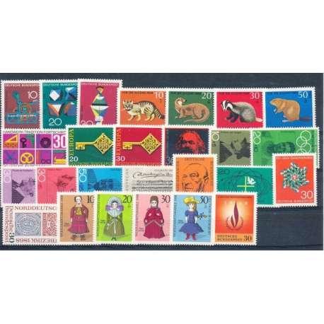 R.F.T.1968 ANNATA COMPLETA E DI ALTISSIMA QUALITA' G.I Germania francobolli filatelia stamps