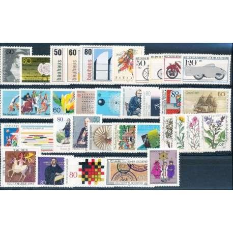 R.F.T. 1983 ANNATA COMPLETA E DI ALTISSIMA QUALITA' G.I Germania francobolli filatelia stamps