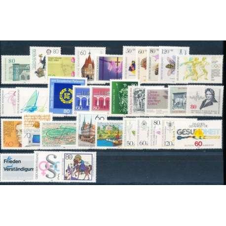 R.F.T. 1984 ANNATA COMPLETA E DI ALTISSIMA QUALITA' G.I Germania francobolli filatelia stamps