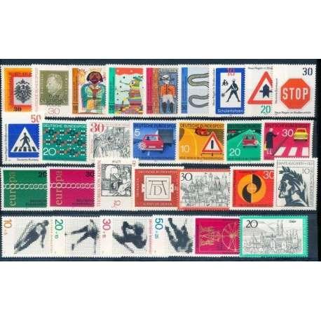 R.F.T 1971 ANNATA COMPLETA E DI ALTISSIMA QUALITA' G.I Germania francobolli filatelia stamps