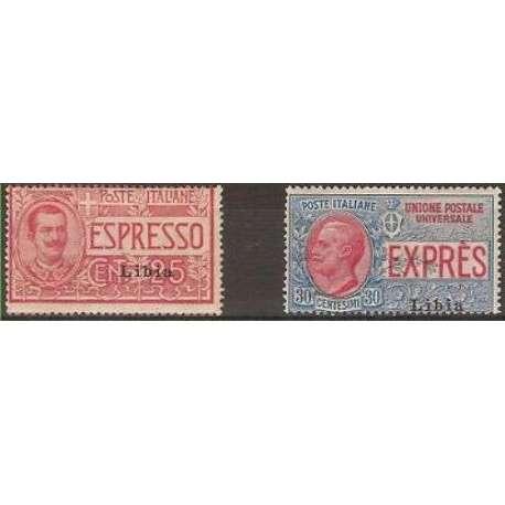 LIBIA 1915 ESPRESSI 1-2 G.I. Colonie francobolli filatelia stamps