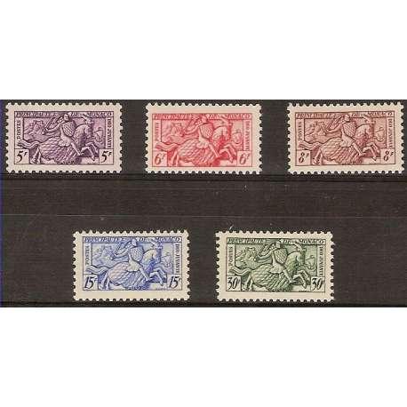 MONACO 1955 CAVALIERE IN ARMATURA G.I. Monaco francobolli filatelia stamps