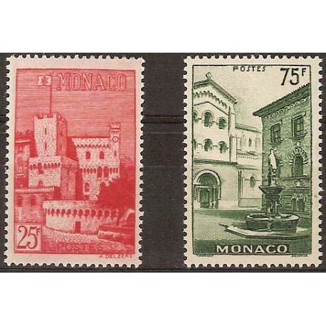 MONACO 1954 VEDUTE G.I. Monaco francobolli filatelia stamps