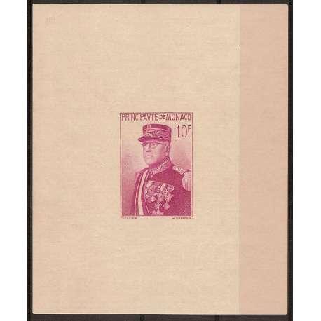 MONACO 1938 FOGLIETTO FESTA NAZIONALE EFFIGE LUIGI II G.I. Monaco francobolli filatelia stamps