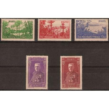 MONACO 1937 PRO BENEFICENZA VEDUTE ED EFFIGE G.I. Monaco francobolli filatelia stamps