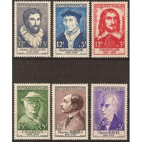 FRANCIA 1956 CELEBRITA' DAL XV AL XX SECOLO G.I. Francia francobolli filatelia stamps