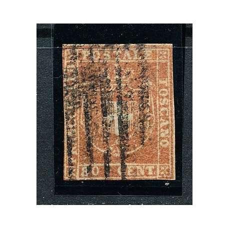 1860 TOSCANA 80 c. BISTRO CARNICINO (22a) IN BUONO STATO CERTIFICATO US. Toscana francobolli filatelia stamps