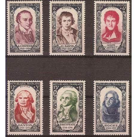 FRANCIA 1950 CELEBRITA' DEL XVIII SECOLO II G.I. Francia francobolli filatelia stamps
