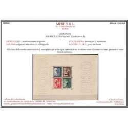 "GERMANIA 1930 FOGLIETTO ""Iposta"" (Unificato n. 1) CERT. G.I. MNH** Germania francobolli filatelia stamps"