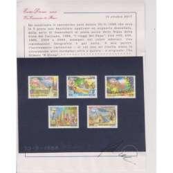 VATICANO 1988 POSTA AEREA 5 PROVE NON DENTELLATE I VIAGGI DEL PAPA Vaticano francobolli filatelia stamps