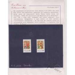 VATICANO 1979 2 PROVE NON DENTELLATE IX CENTENARIO DEL MARTIRIO DI S. STANISLAO Vaticano francobolli filatelia stamps