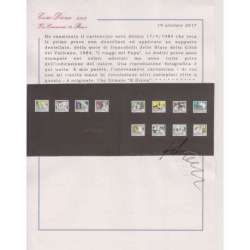 VATICANO 1984 12 PROVE NON DENTELLATE I VIAGGI DEL PAPA Vaticano francobolli filatelia stamps