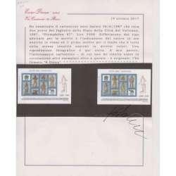 VATICANO 1987 2 PROVE DEL FOGLIETTO OLYMPHILEX 87 Vaticano francobolli filatelia stamps