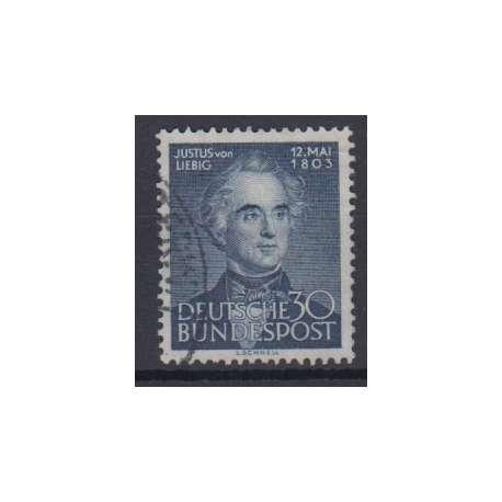 R.F.T. 1953 150° ANNIVERSARIO NASCITA JUSTUS VON LIEBIG US. Germania francobolli filatelia stamps