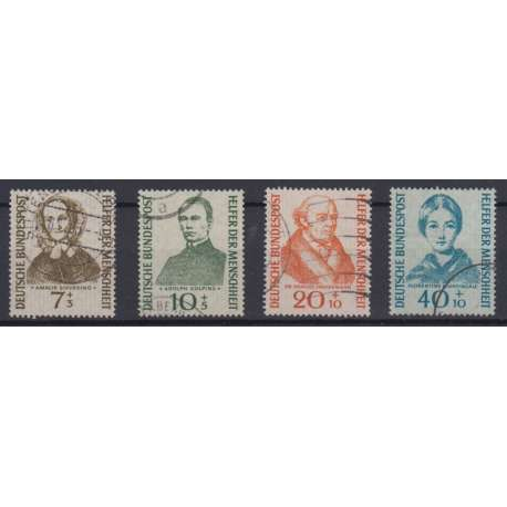 """R.F.T. 1955 BENEFICENZA """"BENEFATTORI"""" VI SERIE US. Germania francobolli filatelia stamps"""