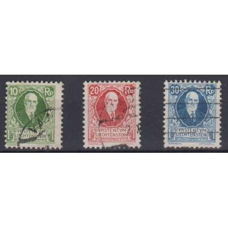LIECHTENSTEIN 1925 85° COMPLEANNO DEL PRINCIPE GIOVANNI II US. Liechtenstein francobolli filatelia stamps