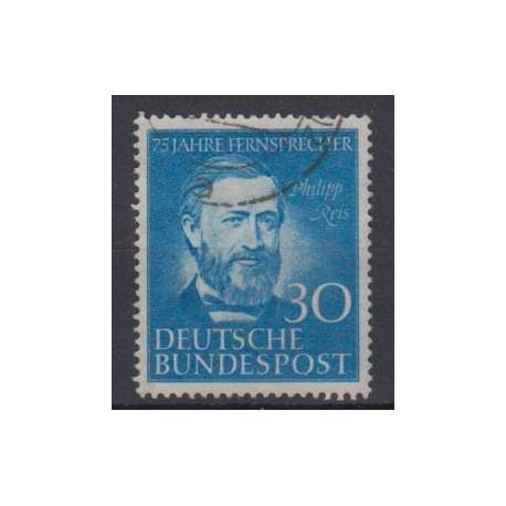 R.F.T. 1952 ANNIBERSARIO TELEFONO IN GERMANIA (PHILIPP REIS) US. Germania francobolli filatelia stamps