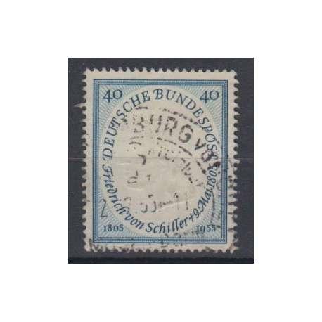 GERMANIA R.F.T. 1955 ANNIVERSARIO DELLA MORTE DI FRIEDRICH VON SCHILLER US. Germania francobolli filatelia stamps