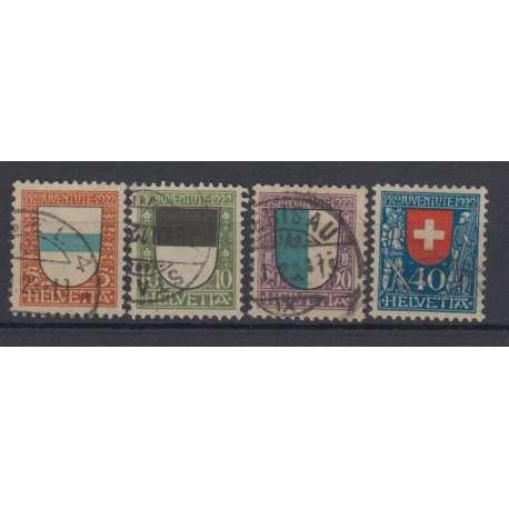 SVIZZERA 1922 PRO JUVENTUTE STEMMI US. Altro francobolli filatelia stamps