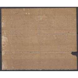 1945 SERV. PRIVATI S.A.B.E. 10 L. QUARTINA n14/IB DOPPIA DENT. SX CERT G.I.MNH** R.S.I. e Luogotenenza francobolli filatelia...