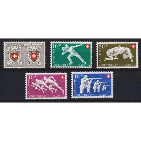 1950 SVIZZERA PRO PATRIA 5 V. G.I. (MNH) Svizzera francobolli filatelia stamps