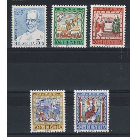 1967 SVIZZERA PRO PATRIA 5 V. (MNH) Svizzera francobolli filatelia stamps