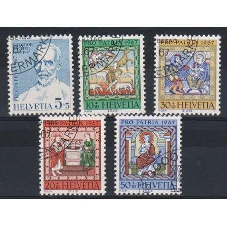 1967 SVIZZERA PRO PATRIA 5 V. US. Svizzera francobolli filatelia stamps