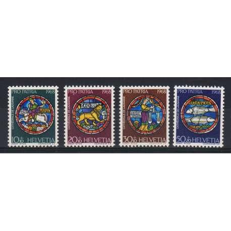 1968 SVIZZERA PRO PATRIA 4 V. (MNH) Svizzera francobolli filatelia stamps