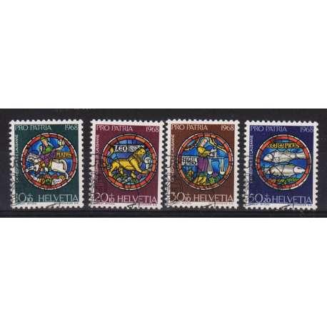 1968 SVIZZERA PRO PATRIA 4 V. US. Svizzera francobolli filatelia stamps