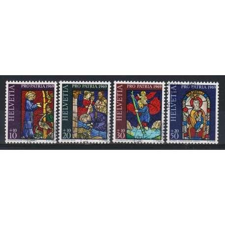 1969 SVIZZERA PRO PATRIA 4 V. US. Svizzera francobolli filatelia stamps