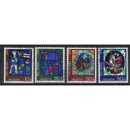 1970 SVIZZERA PRO PATRIA 4 V. US. Svizzera francobolli filatelia stamps