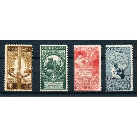 1911 UNITA' D'ITALIA CON G.I regno d' Italia francobolli filatelia stamps