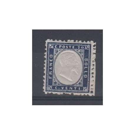 1862 6 ESEMPLARI DEL 20 CENT. CON G.O./G.I. regno d' Italia francobolli filatelia stamps