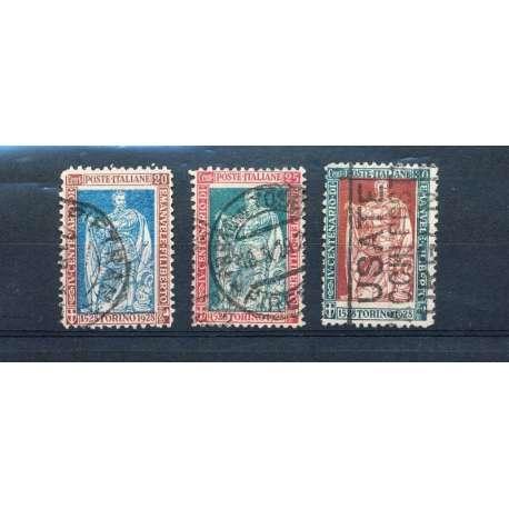 3 VALORI DI E.FILIBERTO CON CENTRO SPOSTATO! NON COMUNI! US. regno d' Italia francobolli filatelia stamps